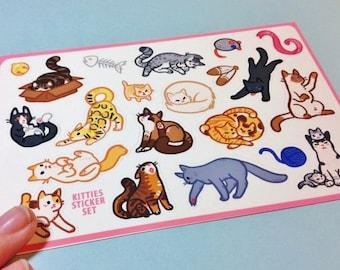 Kitty Cat Sticker Sheet