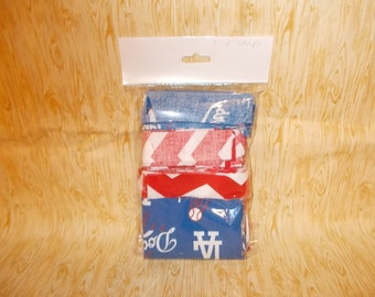MLB LA Dodgers Quilting Fabric Strips - 1/4 lb Fabric Strips