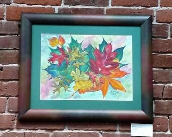 "Naure's Jewels watercolor 11X15"" Original CC WILLOW Art"