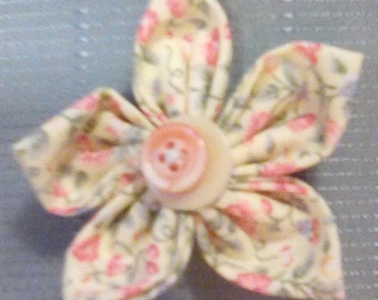 Yellow and Peach Flower Ornament