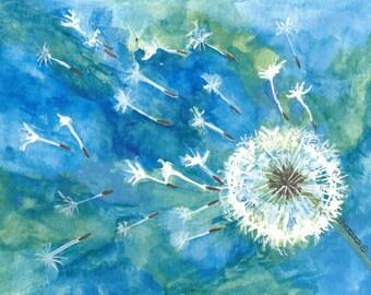 Make a Wish Dandelion Note Cards - No.  1416   Make a Wish