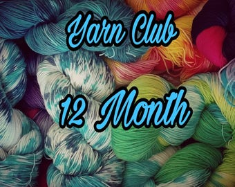 Yarn club, yarn subscription, yarn, crochet, knit, Free shipping