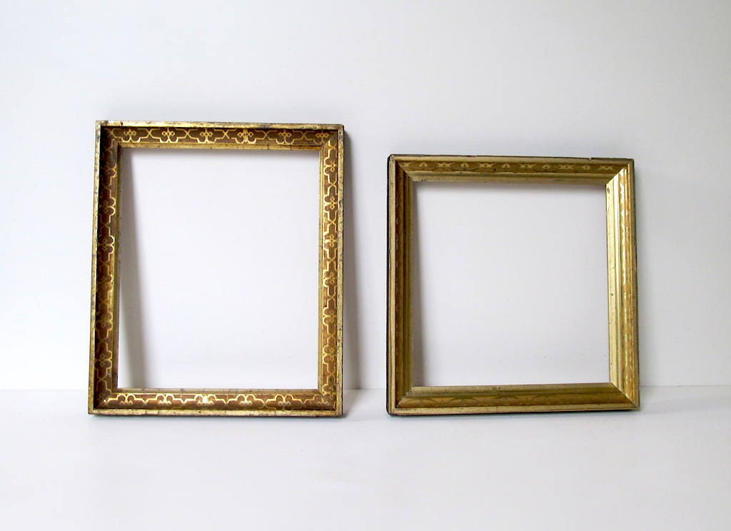 Reserved for Tracey: Antique Picture Frames 2 Watergilded Fillet ...