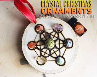 Essential Oil Diffusing Crystal Ornaments