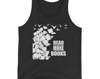 Read More Books, Reading, Bookworm, Readers, Lovers, Tank Top