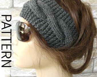 Knitting pattern pdf digital headband pattern instant knitting pattern pdf digital headband pattern instant download diy christmas boho headband cable knit headband women dt1010fo