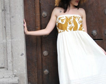 SWEET Otomi  Embroidered Bohemian dress