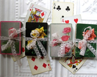 Gorgeous Assorted Vintage Floral Playing Cards (40), Tags, Scrapbooking, Collage