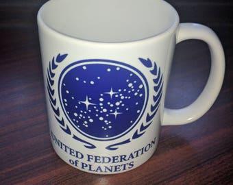 United Federation of Planets Coffee mug.  Star Trek