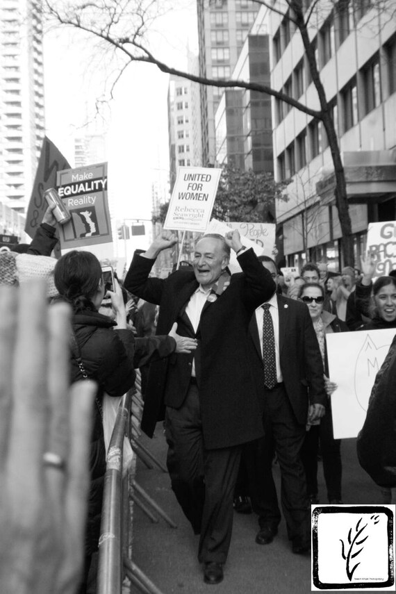 """Photo Op,"" New York City Women's March, 2017."