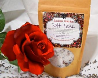 HERBAL SALT SOAK. Herbal Bath Soak. Homemade Lavender Bath Salts. Rose Bath Salts. Bath Tea. Detoxing Bath.Foot Wash.Muscles Relaxer