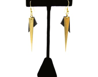 Small Pointed Drop Earrings