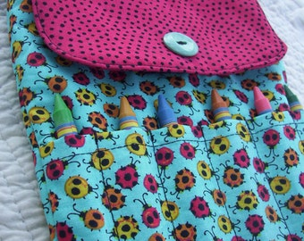 Ladybug Crayon Purse, Toddler Purse, Little Girls Purse, Preschool Purse, First Purse