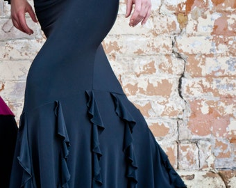 Black TERESA Flamenco skirt