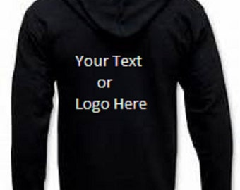 Custom Personalized Zip-up Hoodie Sweatshirt