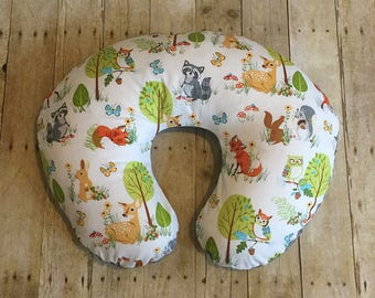 Forest Animals Boppy Cover- You Pick Minky Color