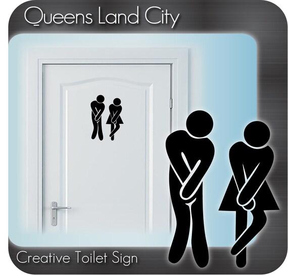 Funny Toilet Peek Sign Sticker: Items Similar To Creative Funny Bathroom Toilet WC
