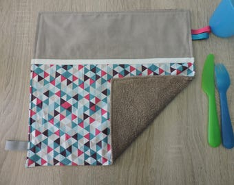 """geometric"" napkin reversible cotton Terry"
