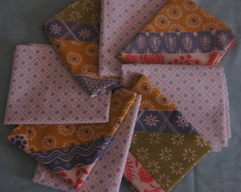 8  Vintage Sheet Fat Quarters Bundle 4 of each  perfect for  crafting and quilting