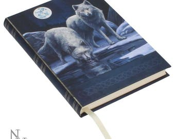 Embossed Journal Warriors of Winter , Wolf Notebook, Game night, Notepad, Wolf Book, Spell Book, Magic, Notebook, Journal, Magic Wolf