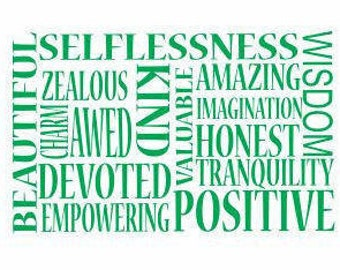 Positive Words Decal:  Business Decals, Motivational Words, Inspiring Decals, Gifts for him, birthday gifts, Office gifts, Beautiful Words