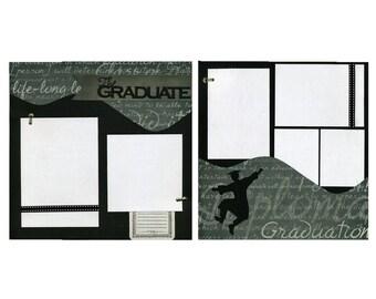 The Graduate - 12x12 Premade Scrapbook Page Set - Boy