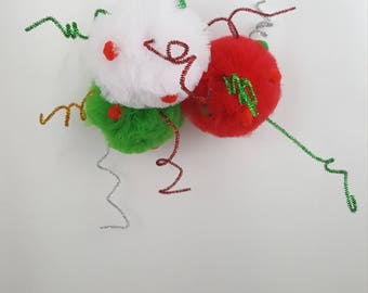 Whoville Pom Set, Tulle Pom Pom Set, Party Decorations, Party Decor, Christmas Decoration, Birthday Party Decoration, Ugly Sweater Decor