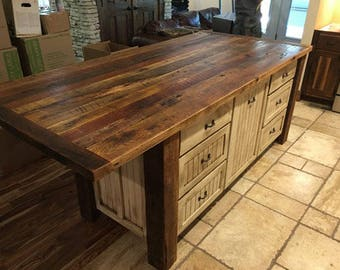 Kitchen Island With Storage, Kitchen Islands With Seating, Custom Kitchen  Cabinets, Rustic,