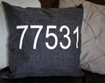 Zip Code Pillowcase