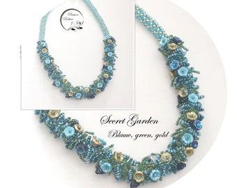 KIT diy necklace SECRET GARDEN