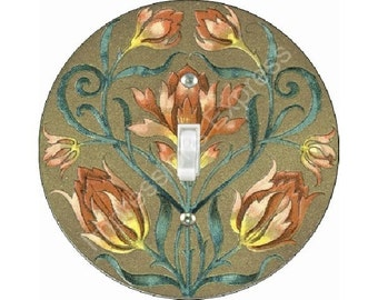 Victorian Floral Single Toggle Switch Plate Cover