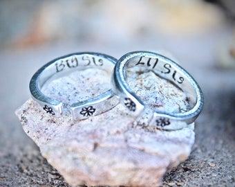 Sister Rings, Big Lil Sister ring, best friend jewelry, best friend rings, Sorority ring, Sister Rings, Two Sister Rings, Big Lil, Two Rings