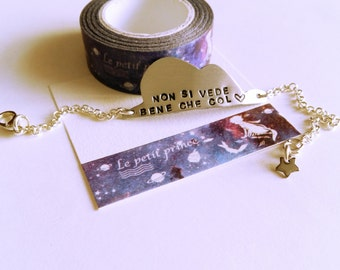 """Little Prince's Bracelet """"You can't see well with your heart"""""""