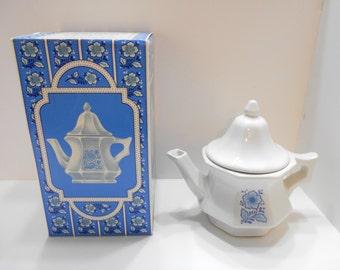 Vintage Avon China Teapot (33) Perfumed Candle Holder--MIB