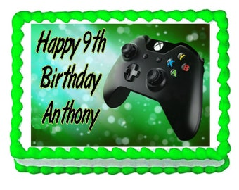 Gaming remote controller Xbox party edible cake image cake topper frosting sheet