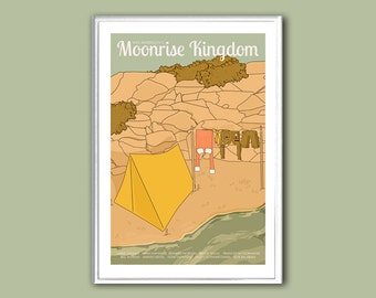 Movie poster Moonrise Kingdom retro print in various sizes