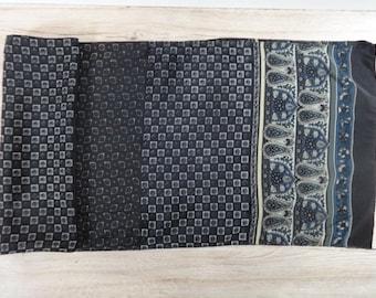 "Vintage Mens paisley scarf 141cm x 33cm / 55.5"" x 12.9"""