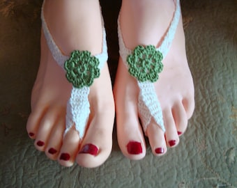 Barefoot Sandals to dress up your feet even when you don't want to wear shoes!  Handmade crochet!  Clothing Item!  Free Domestic Shipping!