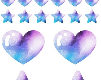 Star and heart sticker