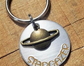 Astronomy Keychain - Astronomy Gift - Space Key Chain - Space Gift - Gift for Astronomers - Planet Key Ring - Stargazer - Star Gazer