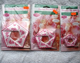 3 packs Clover Sweetheart Rosemakers.  Small, Medium and Large Sizes.