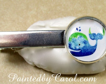 Whale Tie Bar, Whale Tie Tack, Whale Tie Clip, Cartoon Whale Gifts, Whale Mens Gifts, Sea Life Mens Gifts, Nautical Mens Gifts, Ocean Life