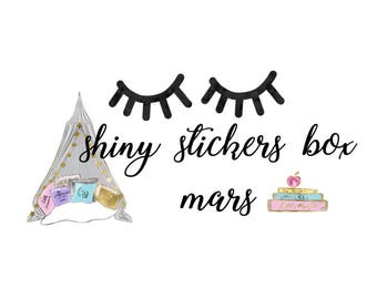 Shiny March Box Stickers - Close Your Eyes