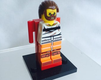 Lego Style Hannibal Lecter Silence Of The Lambs Minifigure.