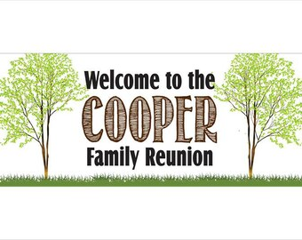 Personalized Family Reunion Banner - Custom Banner
