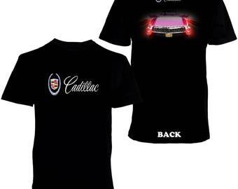 Elvis Presley pink Cadillac Men's Printed T-shirt