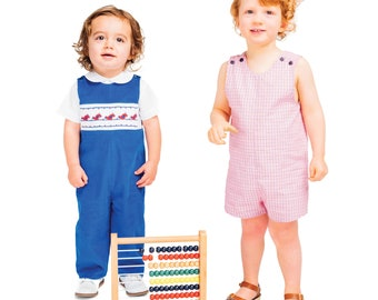 Smocked Romper Pattern / Snap Crotch / Boys or Girls / Overalls / Smocked Overalls / Childrens Corner Pattern / Johnny Pattern /  #260