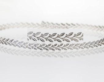 12 Inch (30.5cm) x 5mm Width Sterling Silver 935 Strip Gallery Decorative Ribbon, Pattern wire (C000209)