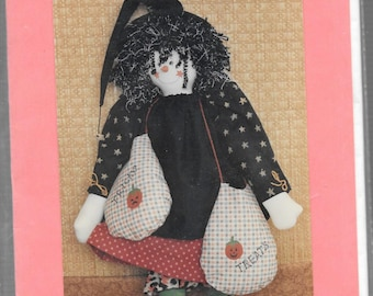 """HALLOW'S EVE 16"""" Witch DOLL Pattern"""