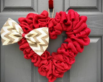 Red Heart Wreath, Heart Wreaths, Red Hearts, Heart Door Wreath, Valentines Wreath, Love Gift, Gift for Her, Heart Decorations, Red Hearts